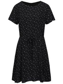 Čierne šaty so zaväzovaním v páse a potlačou hviezd ONLY Nova