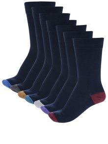 Súprava siedmich párov pánskych ponožiek v tmavomodrej farbe M&Co
