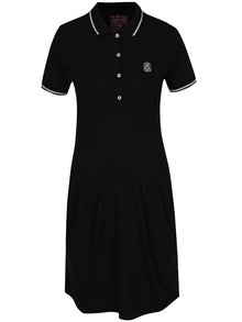 Čierne polo šaty s vreckami Jimmy Sanders