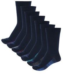Set de șapte soșete bleumarin cu dungi multicolore  M&Co