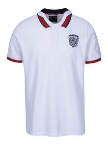 Bílé pánské polo triko s výšivkou loga Jimmy Sanders