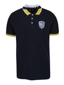 Černé pánské polo tričko s výšivkou loga Jimmy Sanders