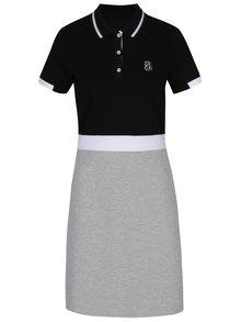 Sivo-čierne polo šaty Jimmy Sanders