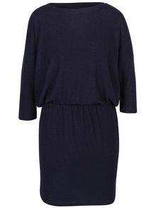 Tmavě modré svetrové šaty s 3/4 rukávem ONLY Maye