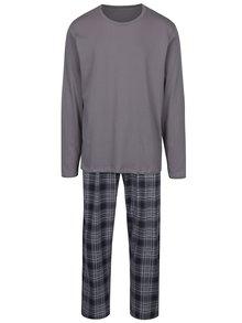 Pijama din 2 piese cu mâneci și pantaloni lungi - M&Co