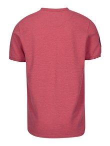 Červené pánské žíhané polo tričko s výšivkou loga Jimmy Sanders