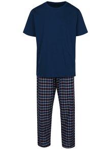 Pijama albastră din 2 piese cu pantaloni lungi pentru bărbați -  M&Co
