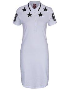 Bílé polo šaty s potiskem hvězd Jimmy Sanders