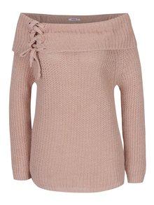 Staroružový sveter s odhalenými ramenami Haily´s Jessy