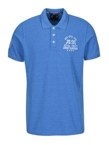 Tricou polo albastru cu broderie pentru barbati - Jimmy Sanders