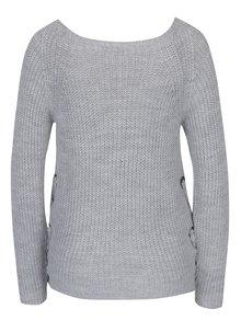 Svetlosivý sveter s rozparkami Haily´s Dani