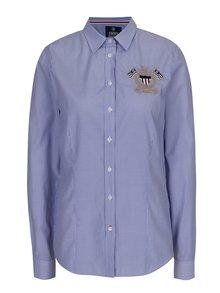 Tmavě modrá dámská pruhovaná košile s výšivkou Jimmy Sanders