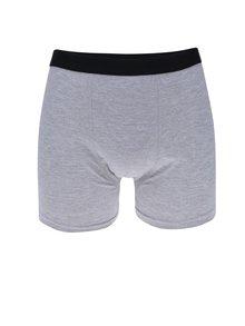 Súprava troch boxeriek v sivej farbe M&Co