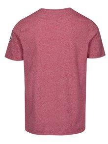 Červené pánske melírované tričko s potlačou Jimmy Sanders