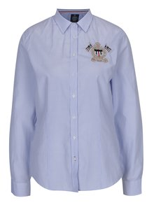 Svetlomodrá dámska pruhovaná košeľa s výšivkou Jimmy Sanders
