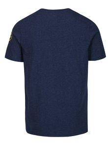 Tmavomodré pánske tričko s potlačou Jimmy Sanders
