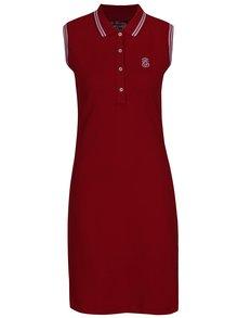Červené polo šaty bez rukávov Jimmy Sanders