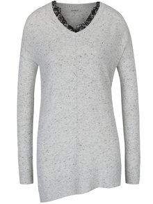 Svetlosivý melírovaný sveter Haily´s Lacy