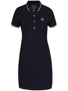 Rochie - tricou polo bleumarin cu broderie -  Jimmy Sanders