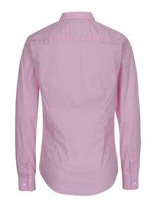Ružová dámska košeľa s nášivkou loga Jimmy Sanders