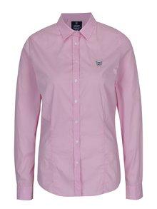 Růžová dámská košile s nášivkou loga Jimmy Sanders