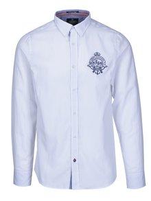 Biela pánska košeľa s výšivkou Jimmy Sanders