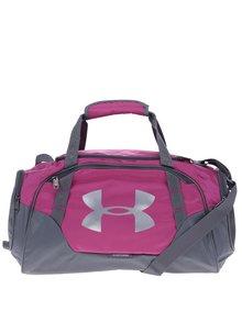 Geantă sport roz & gri pentru femei - Under Armour