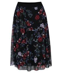 Černá květovaná midi sukně Haily´s Flower