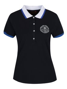 Tmavě modré dámské polo tričko s potiskem Jimmy Sanders