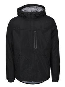 Čierna bunda s kapucňou Jack & Jones Cool