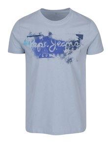 Světle modré pánské tričko s potiskem Pepe Jeans Goodge