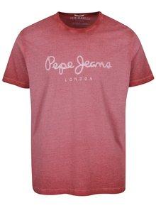 Červené pánské tričko s nápisem Pepe Jeans West Sir II