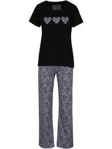 Modro-čierne dámske vzorované pyžamo M&Co