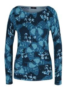 Tyrkysový dámsky sveter s motívom motýľov M&Co