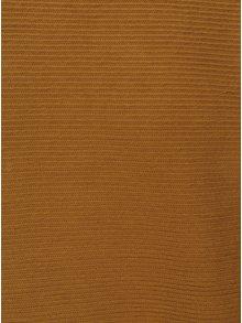 Hořčicový pánský žebrovaný svetr RVLT