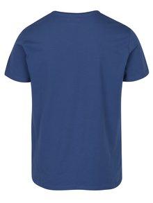 Tricou albastru cu logo print Pepe Jeans Original