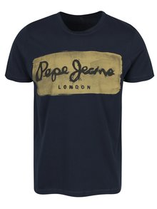 Tmavě modré pánské tričko s potiskem Pepe Jeans Charing