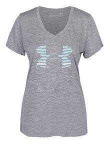 Šedé dámské funkční tričko s krátkým rukávem Under Armour