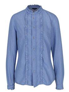 Svetlomodrá dámska rifľová košeľa Pepe Jeans Frilly
