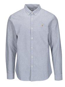 Šedo-bílá pruhovaná neformální košile Farah Selwyn
