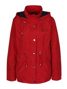 Červená dámská šusťáková parka s kapucí M&Co