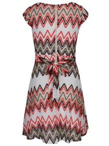 Oranžovo-krémové čipkované šaty Mela London