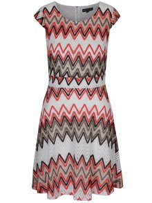 Rochie tricotată cu model geometric Mela London