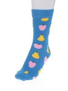 Modré dámske ponožky s motívom ovocia Happy Socks Fruit