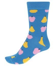 Șosete albastre cu print fructe Happy Socks