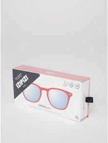 Červené dětské ochranné brýle k PC IZIPIZI  #E