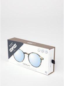 Hnědo-černé dětské ochranné brýle k PC IZIPIZI  #D