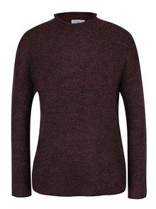 Vínový melírovaný sveter Jacqueline de Yong Alice