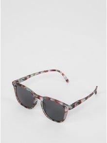 Zeleno-vínové dětské maskáčové sluneční brýle IZIPIZI  #E