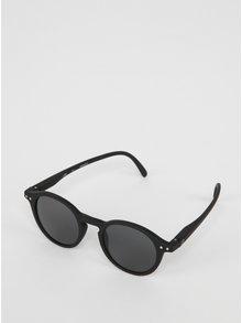 Čierne detské okrúhle slnečné okuliare s tmavými sklami IZIPIZI  #D